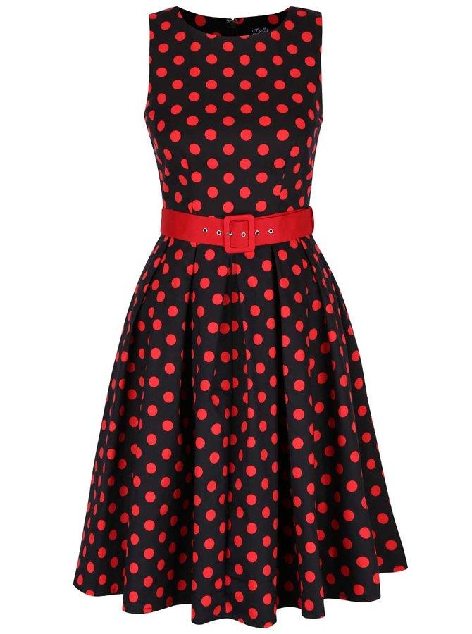 Černé puntíkované šaty Dolly & Dotty Annie