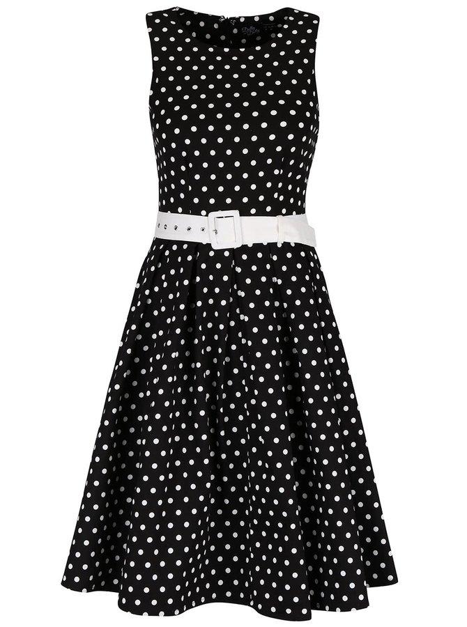 Čierne šaty s bodkami Dolly & Dotty Lola