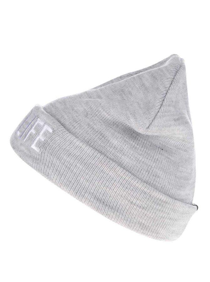 Svetlosivá melírovaná dámska čiapka s výšivkou TALLY WEiJL