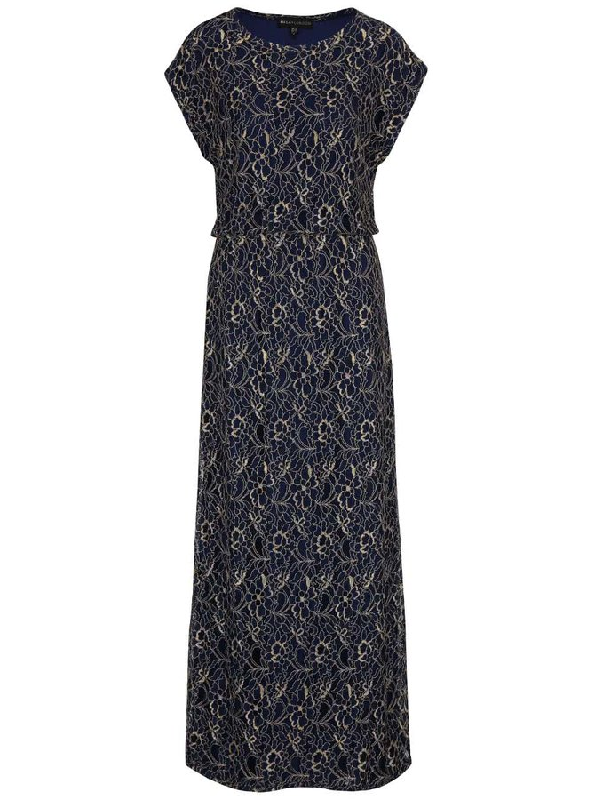 Rochie maxi albastră Mela London cu model