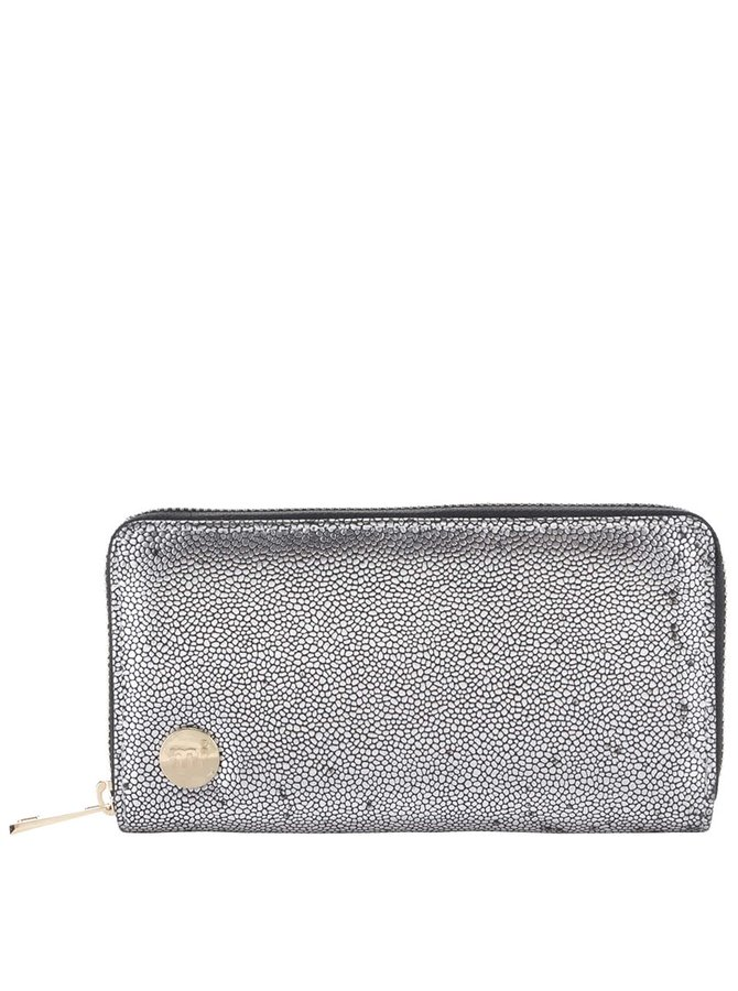 Väčšia peňaženka v striebornej farbe Mi-Pac Zip
