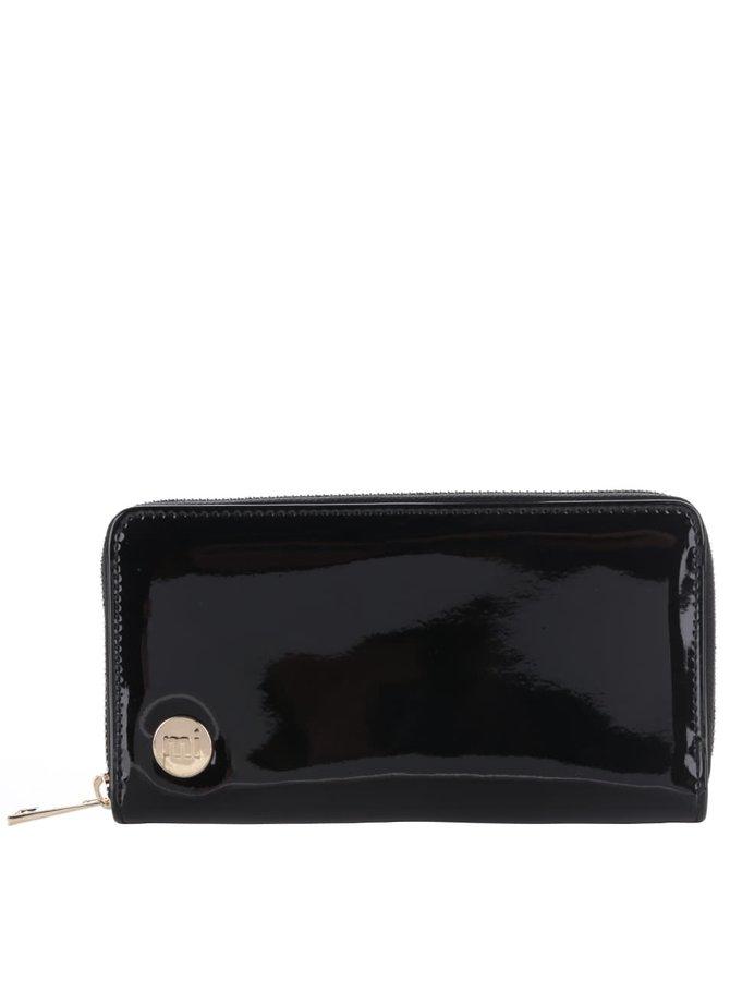 Černá lesklá větší peněženka Mi-Pac Zip