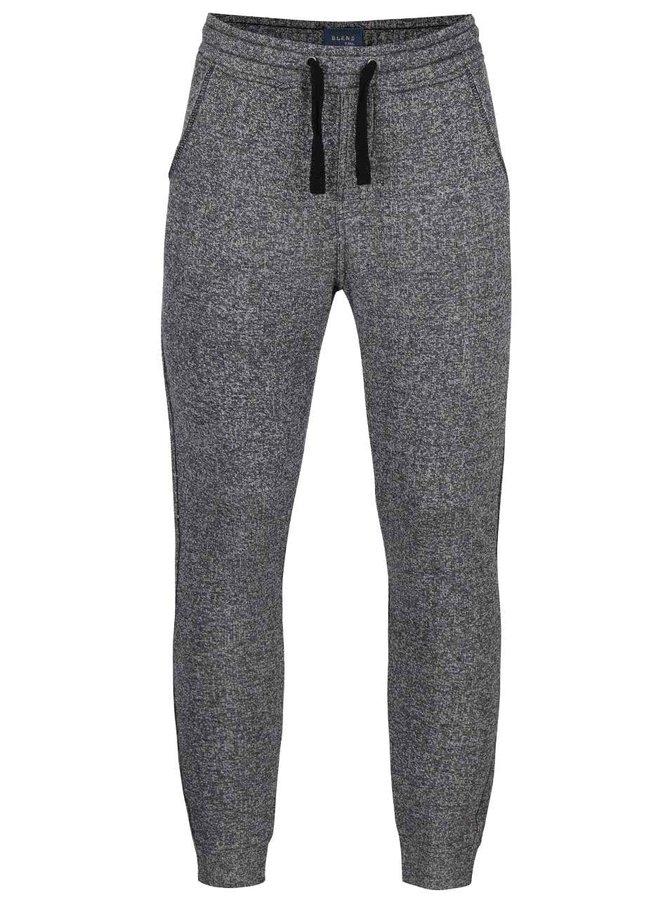 Pantaloni sport gri melanj Blend din bumbac
