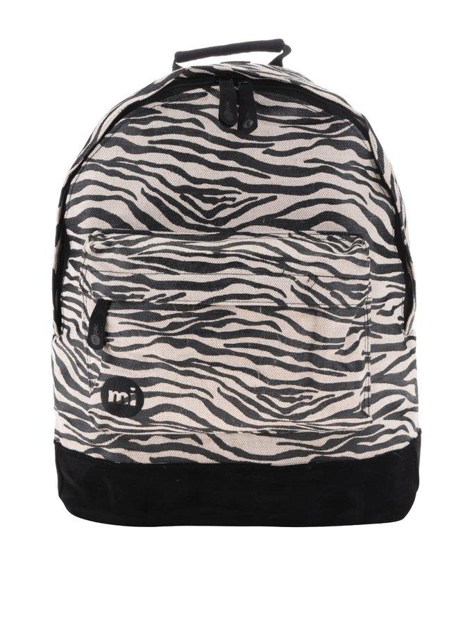 Béžovo-černý dámský vzorovaný batoh Mi-Pac Canvas Zebra 17 l