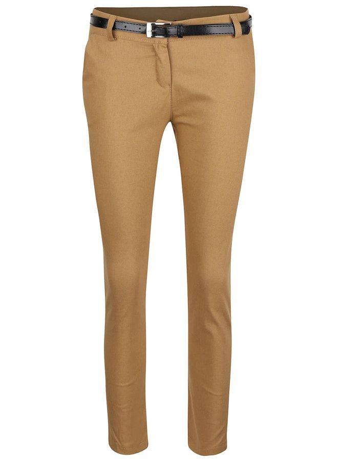 Béžové osminkové nohavice s opaskom Haily's Patty