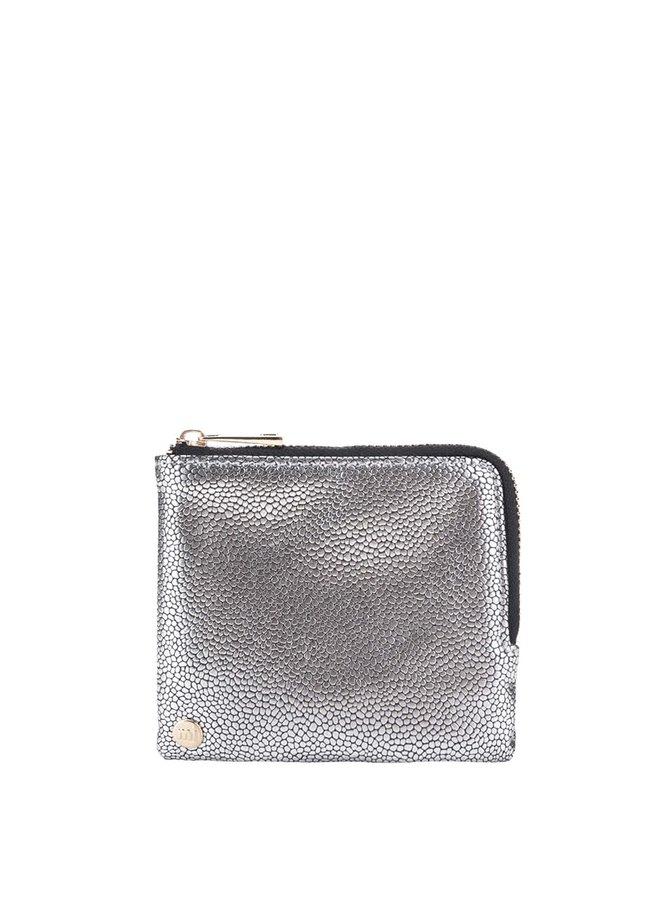 Lesklá vzorovaná peňaženka v striebornej farbe Mi- Pac Coin Holder