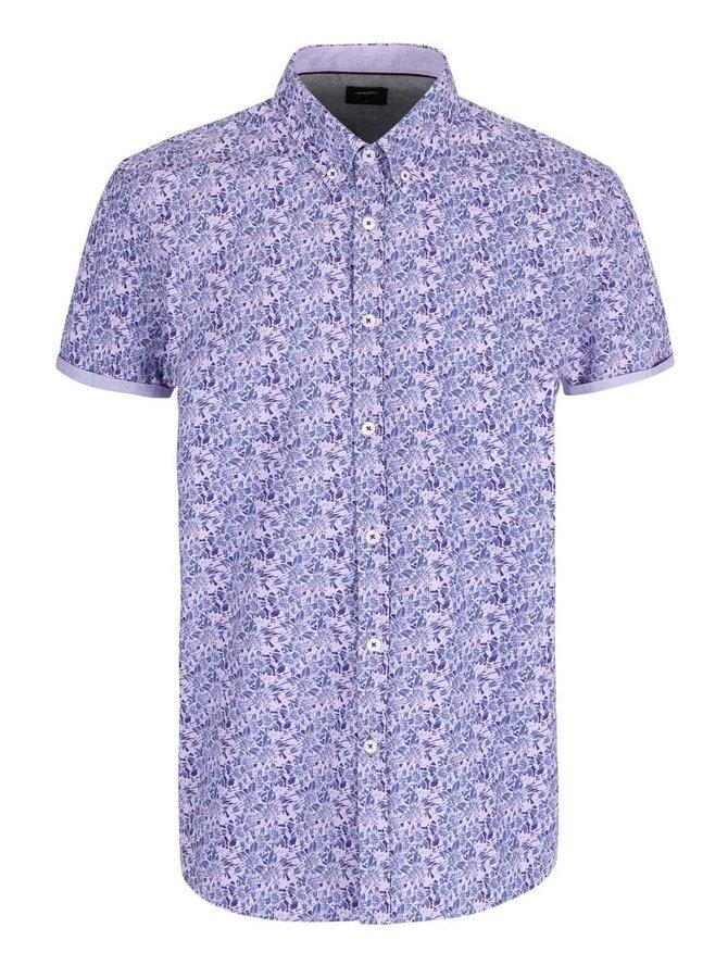Fialová košile s květinovým potiskem Burton Menswear London