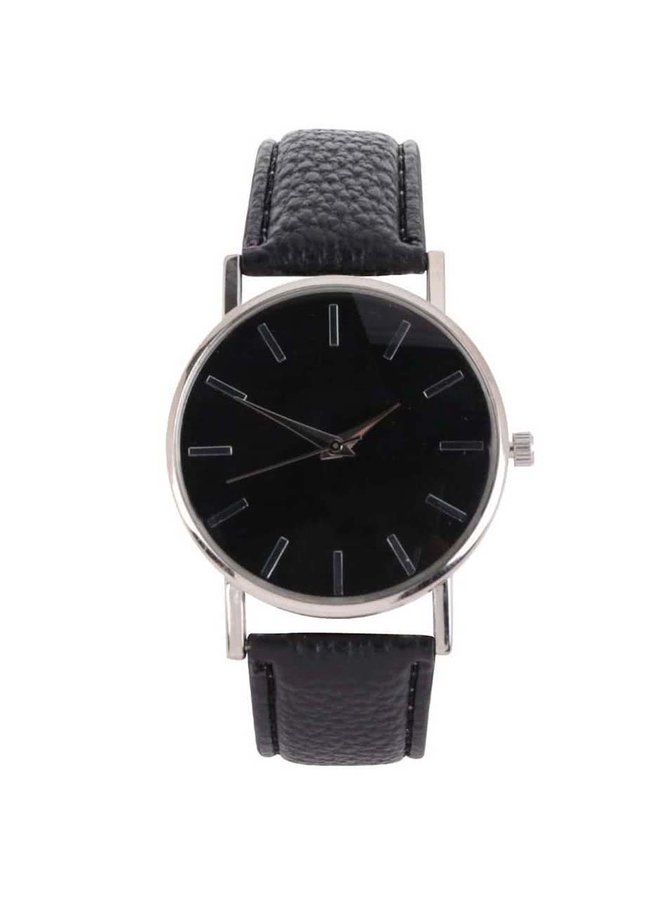 Černé hodinky s detailem ve stříbrné barvě Haily´s Bibi B