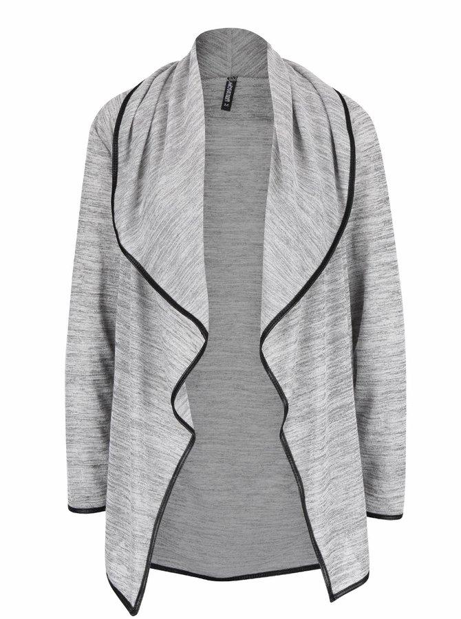 Světle šedý žíhaný cardigan Haily´s Carrisa