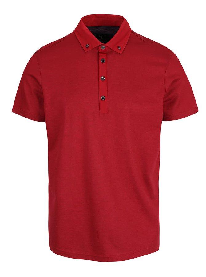 Tricou polo roșu din bumbac Burton Menswear London