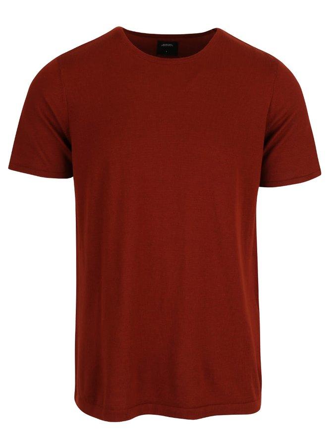 Cihlové triko s krátkým rukávem Burton Menswear London