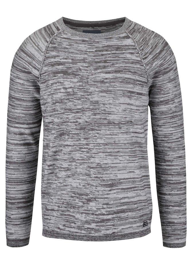 Sivý melírovaný sveter Blend