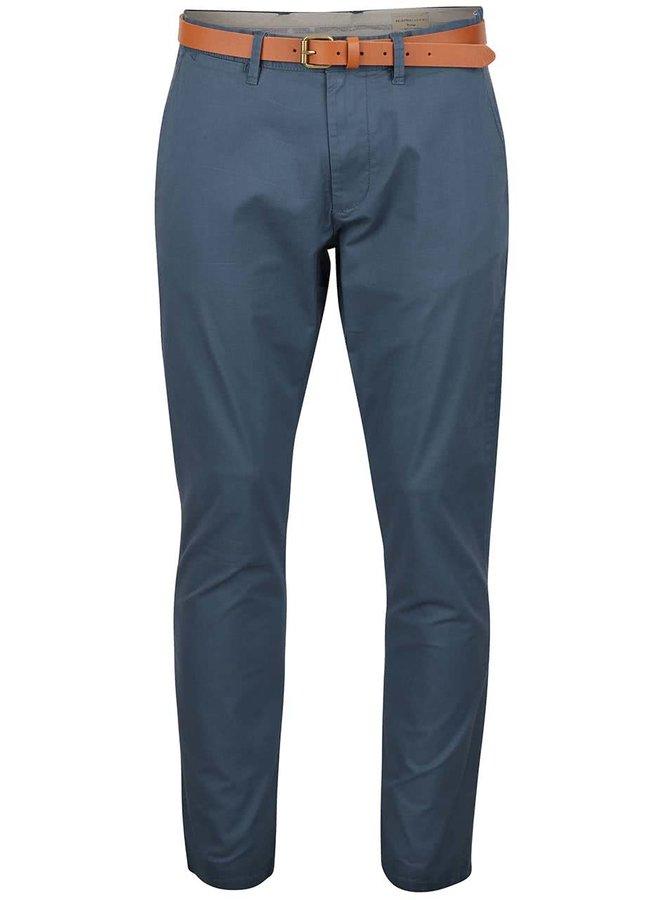 Šedomodré chino kalhoty s pásekm Selected Homme Yard