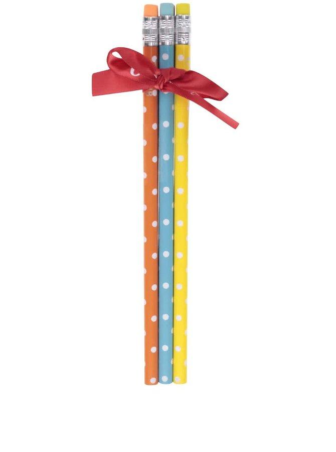 Farebná súprava šiestich ceruziek s bodkami Cath Kidston