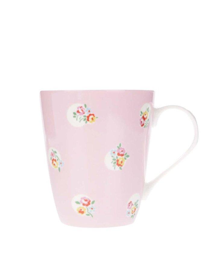 Růžový hrnek s květinovým vzorem Cath Kidston