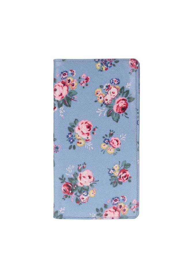 Modrá cestovná peňaženka s kvetmi Cath Kidston