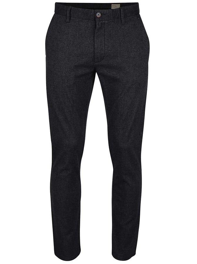 Tmavě šedé slim kalhoty Selected Homme Harval