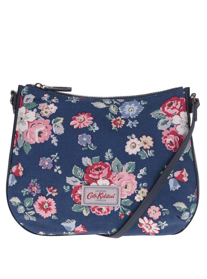 Tmavomodrá crossbody kabelka s kvetovaným motívom Cath Kidston