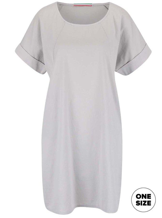 Svetlosivé šaty s krátkym rukávom ZOOT Simple