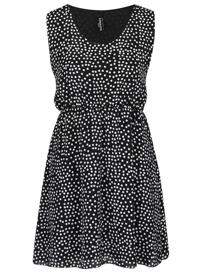 Černé šaty s bílými puntíky Madonna