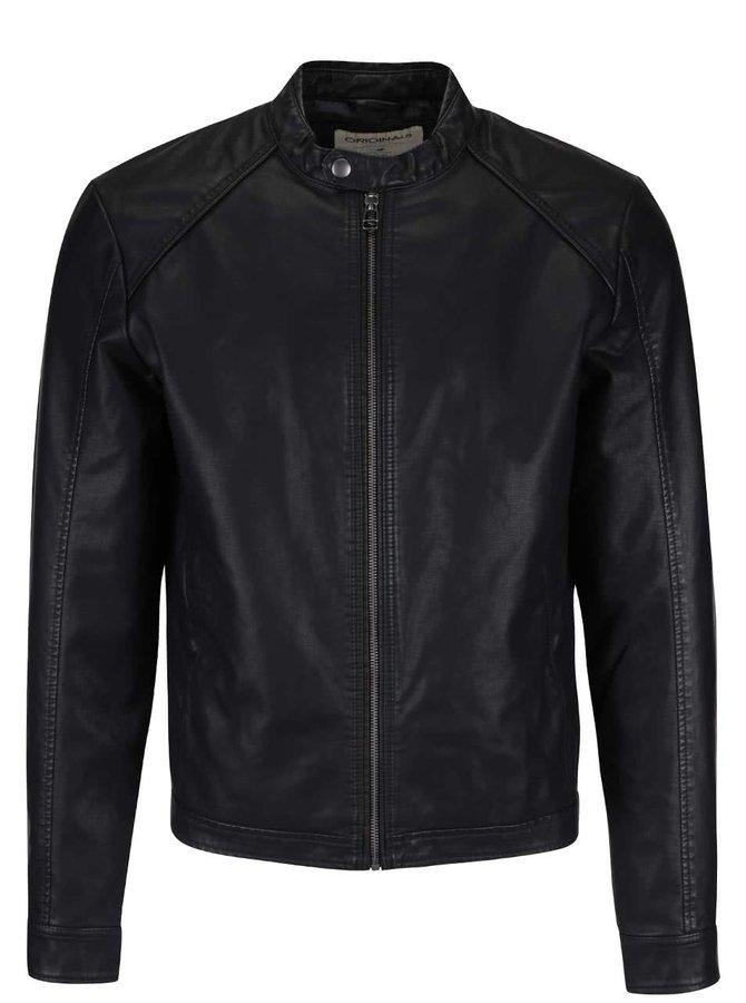 Jachetă Jack & Jones Original din piele ecologică