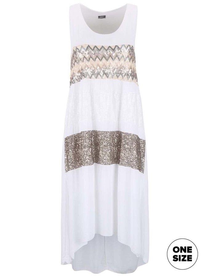 Rochie albă ZOOT Now cu paiete
