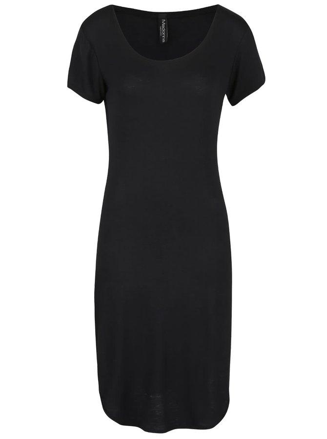 Čierne šaty s krátkym rukávom Madonna
