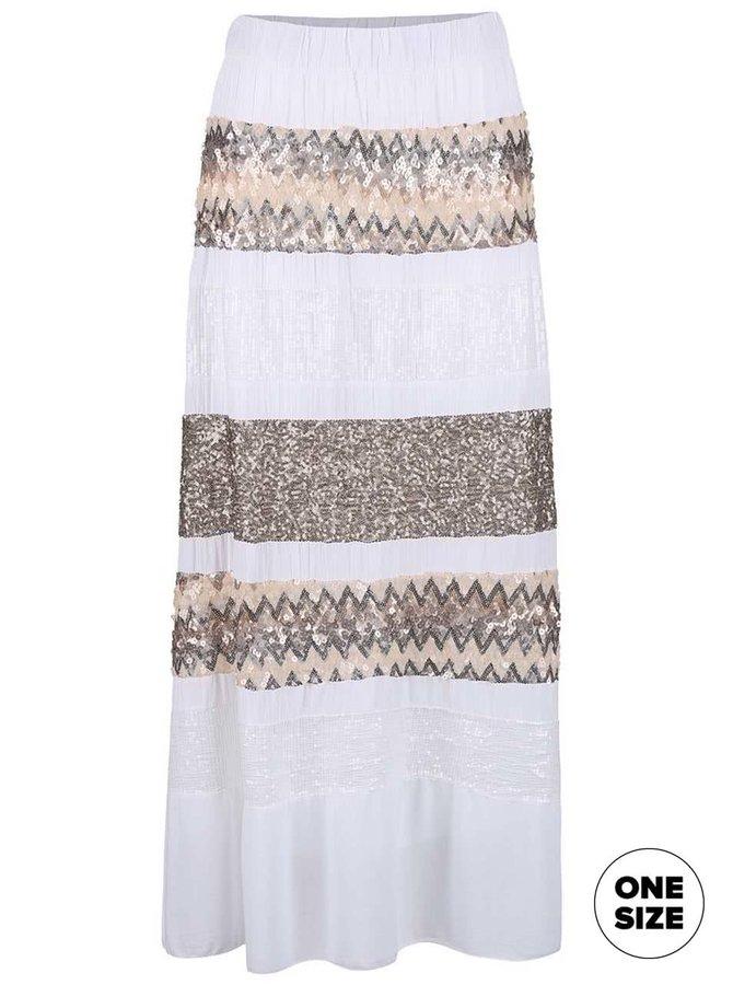 Biela sukňa ozdobená flitrami ZOOT Now