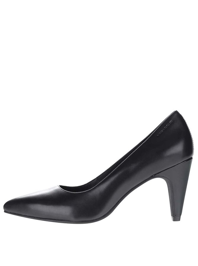 Pantofi negri cu toc Vagabond Esther din piele