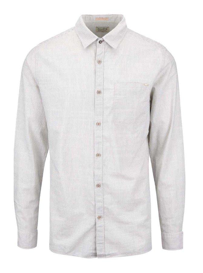 Krémová slim košile s proužky Jack & Jones Harrison