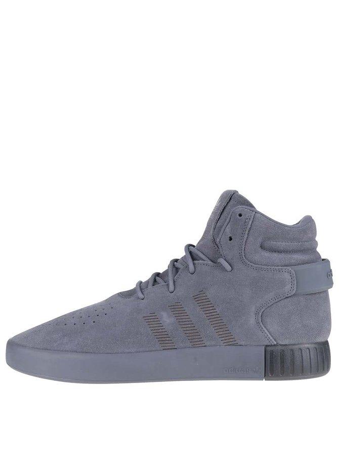 Pantofi sport gri Adidas Originals Tubular Invader
