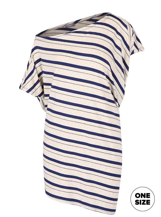 Modro-béžové dlhšie tričko s pruhmi ZOOT simple