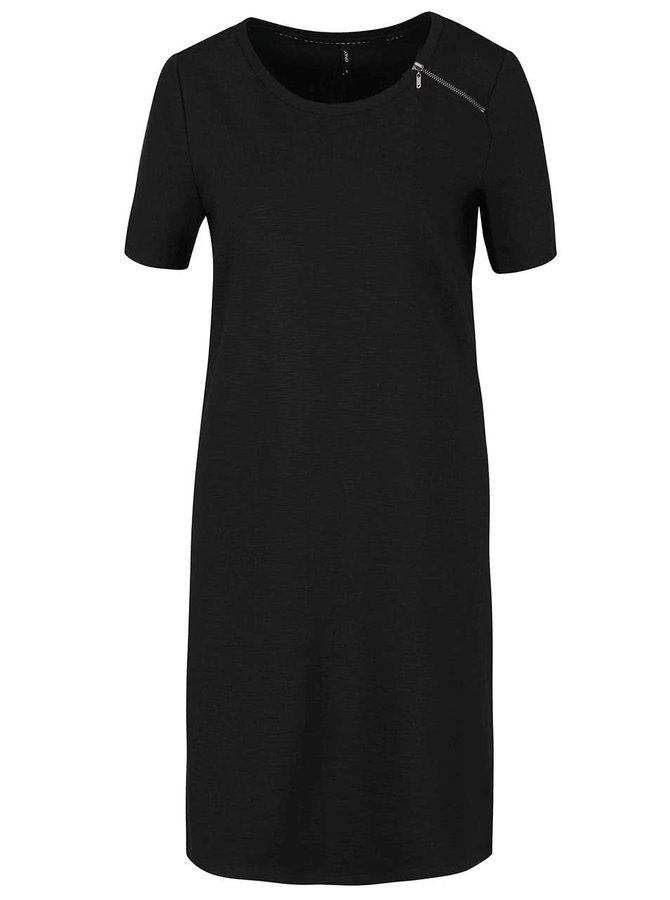 Černé šaty s ozdobným zipem ONLY Nadia