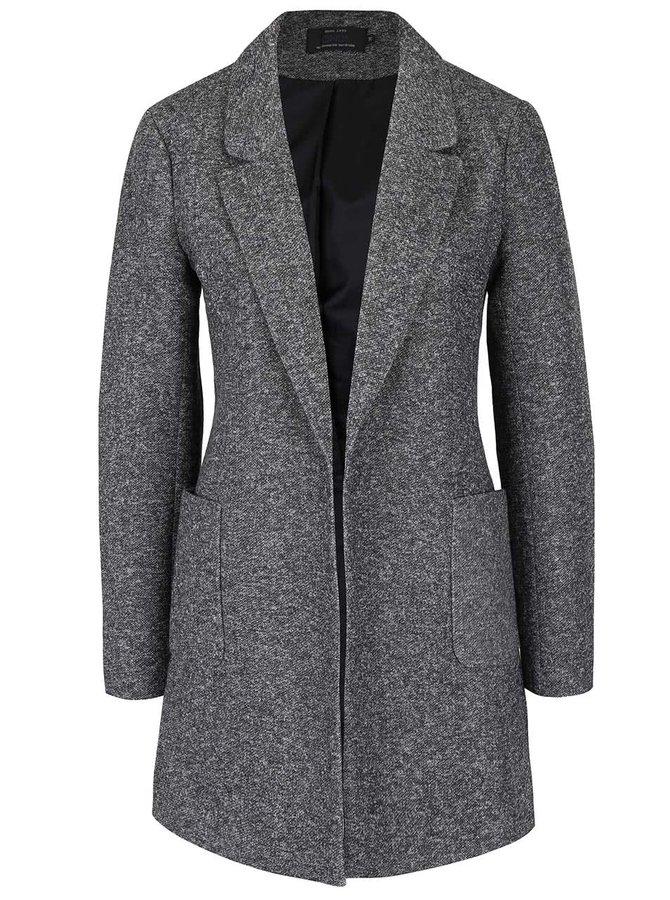 Tmavě šedý žíhaný lehký kabát ONLY Bager