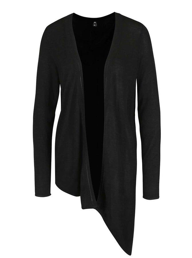 Černý asymetrický cardigan ONLY Auckland
