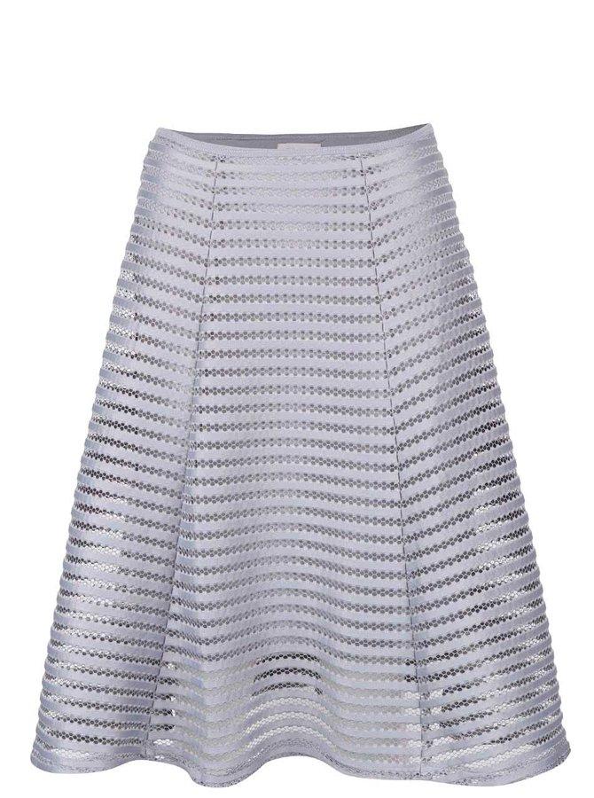 Světle šedá sukně ze síťované krajky Apricot