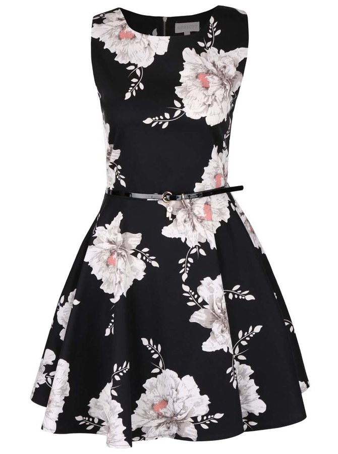 Rochie cu imprimeu floral Apricot gri