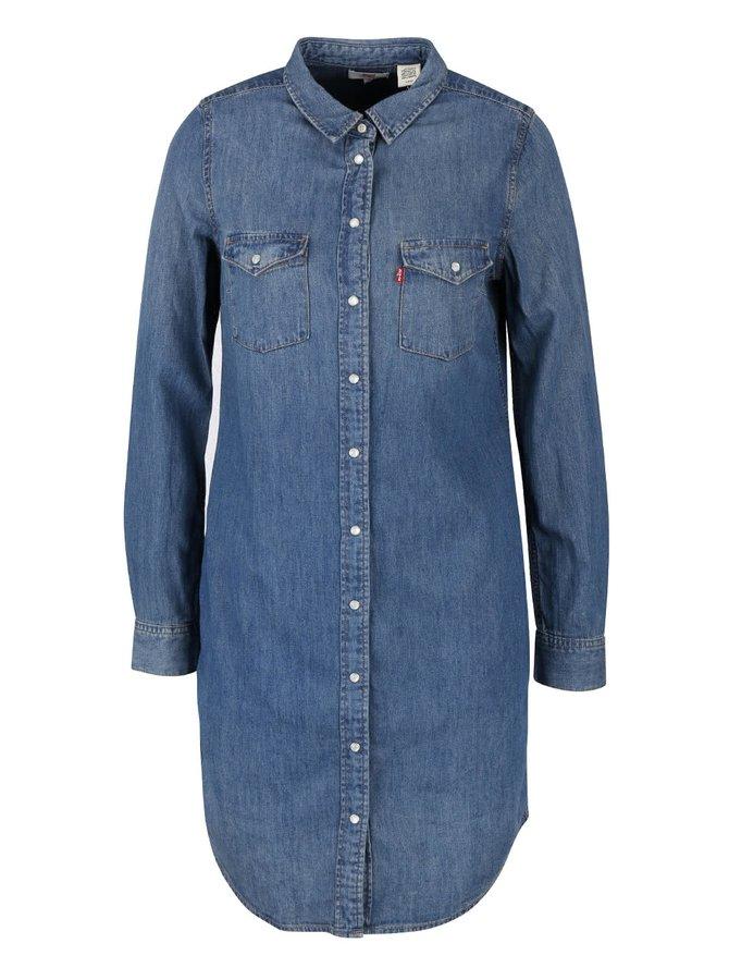 Rochie cămașă din denim Levi's® cu mâneci lungi
