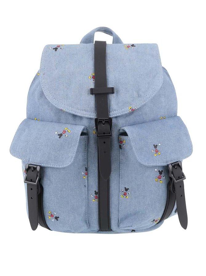 Modrý dámsky batoh s potlačou Mickey Mouse Herschel Dawson 13 l