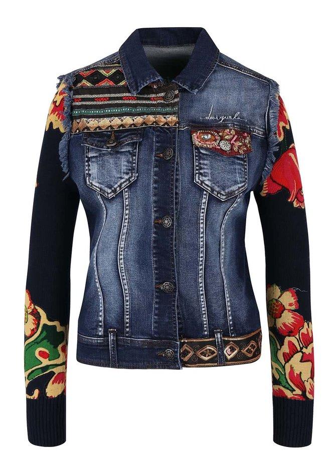Jachetă din denim Desigual Ceci cu aspect 2în1
