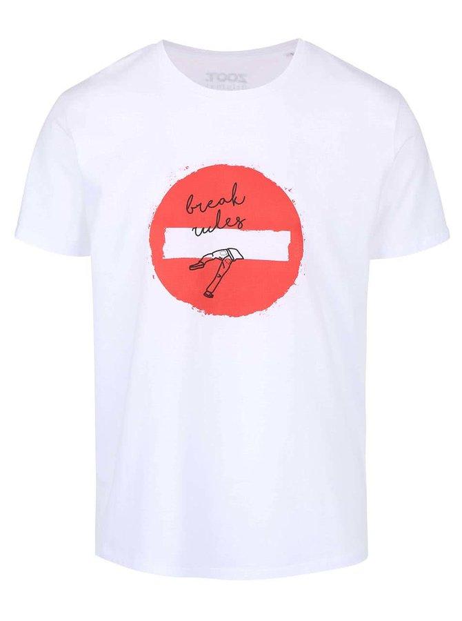 Bílé pánské triko ZOOT Originál Break Rules