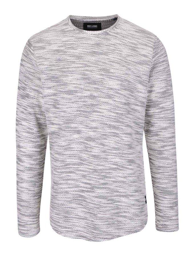 Krémový žíhaný svetr Only & Sons Slub