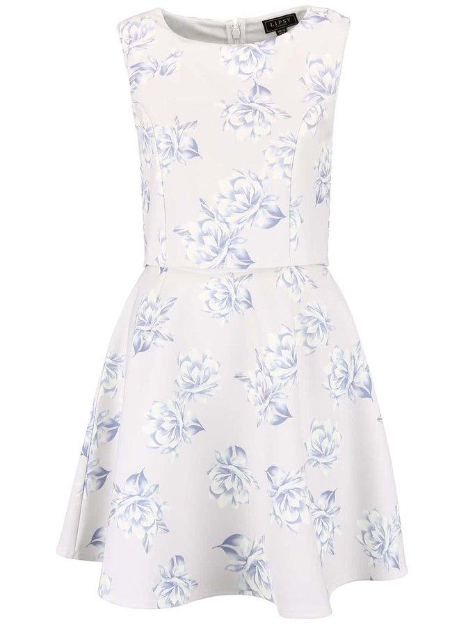 Krémové šaty s květinovým vzorem Lipsy