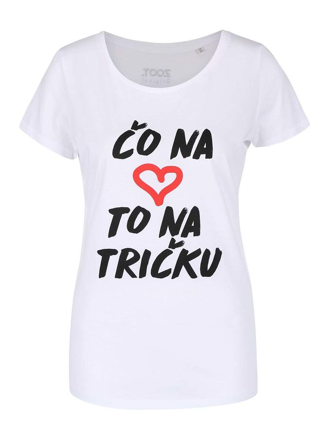 Biele dámske tričko ZOOT Originál Čo na srdci, to na tričku