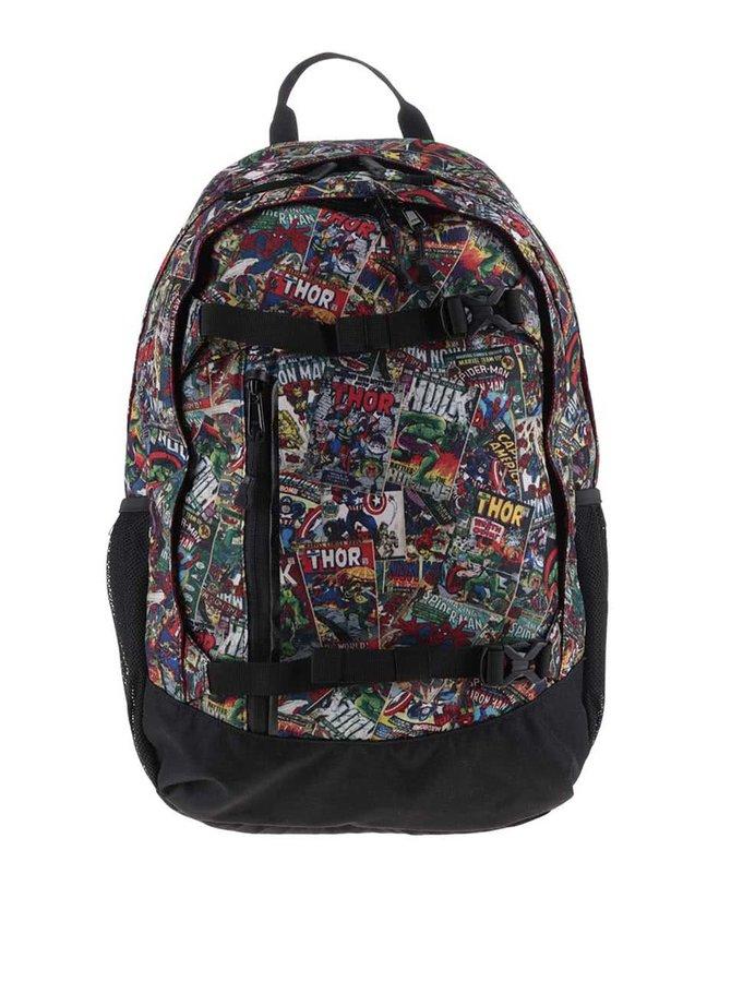 Černý klučičí batoh s barevným Marvel motivem Burton Hiker