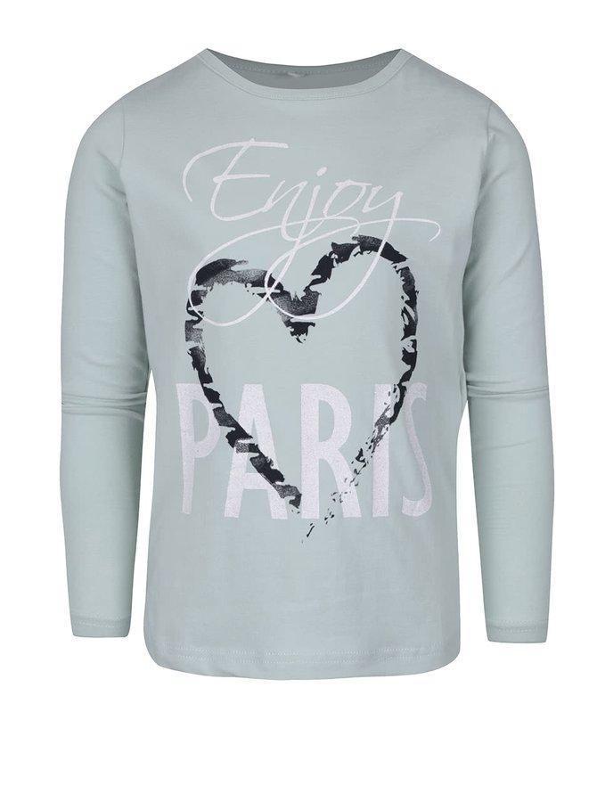 Svetlozelené dievčenské tričko s dlhým rukávom name it Vix