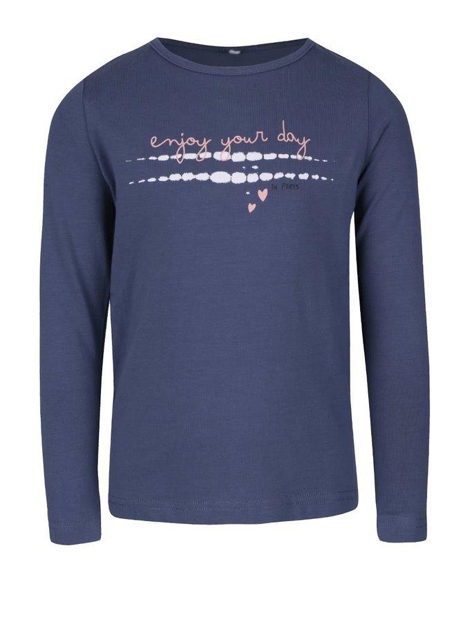 Modré dievčenské tričko s dlhým rukávom name it Vix