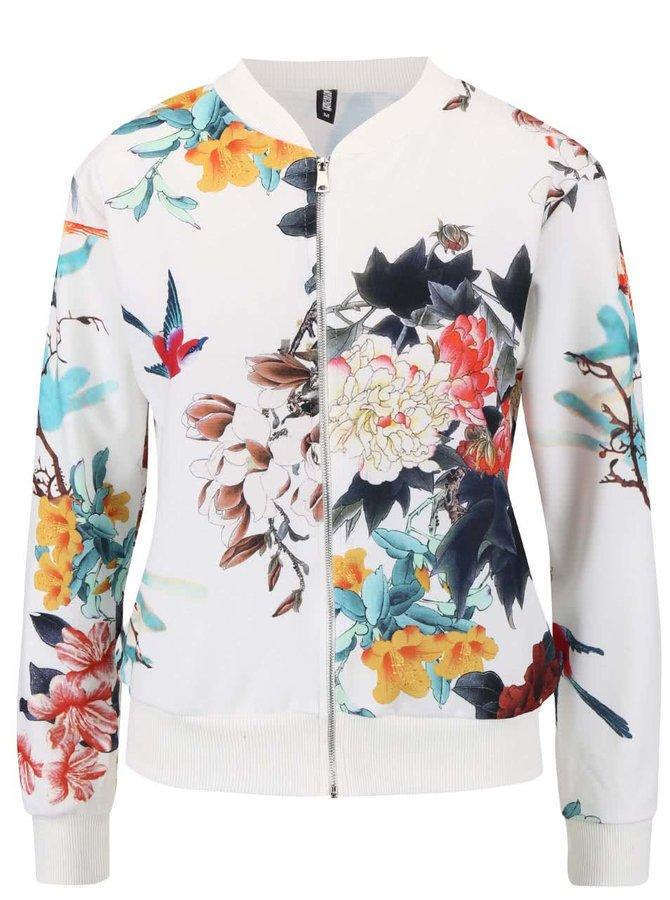 Jachetă bomber Haily's Nicola crem cu imprimeu