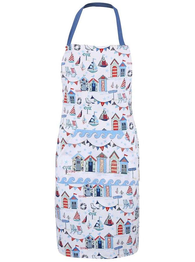 Bielo-modrá kuchynská zástera Cooksmart Beside The Sea