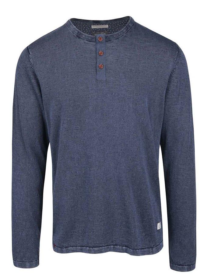 Tmavě modré žíhané triko s dlouhým rukávem Jack & Jones Bray